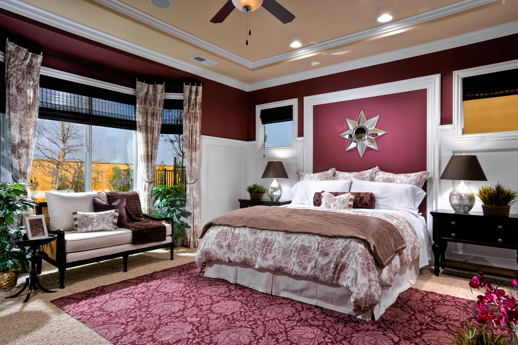 Bedroom Decor Without Headboard 8 creative ways to decorate without a headboard - mccaffrey homes blog
